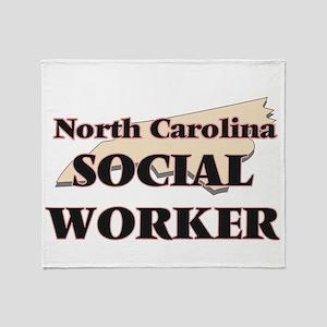 North Carolina Social Worker Throw Blanket