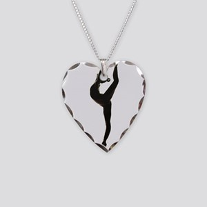 Ballet Dance Necklace Heart Charm