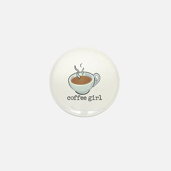 Coffee Girl Mini Button