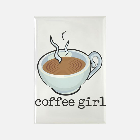 Coffee Girl Rectangle Magnet