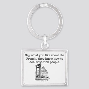 French Rich People Landscape Keychain