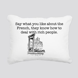 French Rich People Rectangular Canvas Pillow