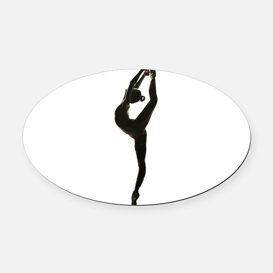 Ballet Dance Oval Car Magnet