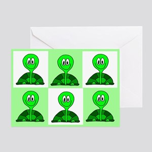 Green Tortoise Greeting Card