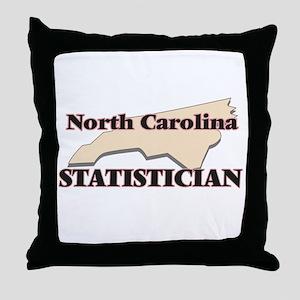 North Carolina Statistician Throw Pillow