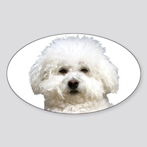 Fifi the Bichon Frise Oval Sticker