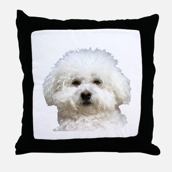 Fifi the Bichon Frise Throw Pillow