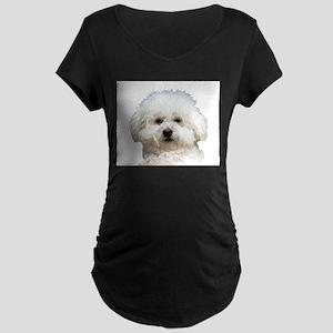 Fifi the Bichon Frise Maternity Dark T-Shirt
