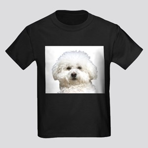 Fifi the Bichon Frise Kids Dark T-Shirt