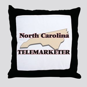 North Carolina Telemarketer Throw Pillow