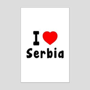 I Love Serbia Mini Poster Print