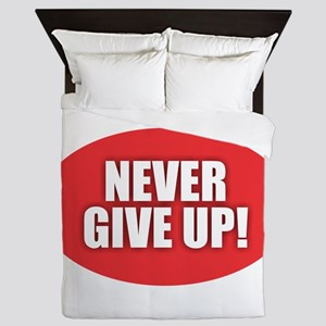 Never Give Up - Red Queen Duvet