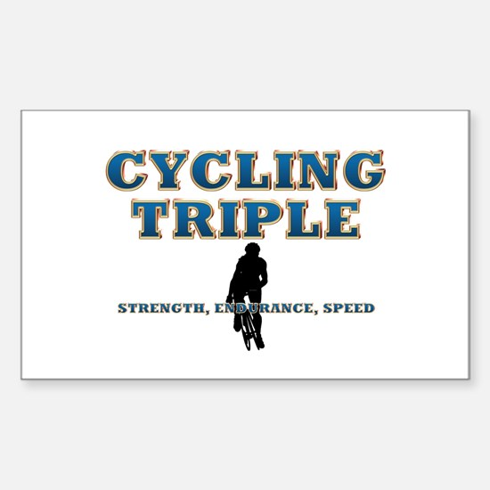 TOP Cycling Slogan Sticker (Rectangle)
