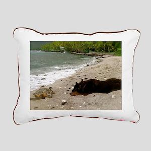 Peace - Sea Turtle & Dog Rectangular Canvas Pi
