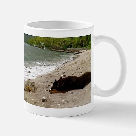 Peace - Sea Turtle & Dog Mug