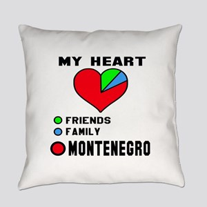 My Heart Friends, Family and Monte Everyday Pillow