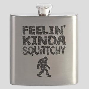 Feelin Kinda Squatchy (Distressed) Flask