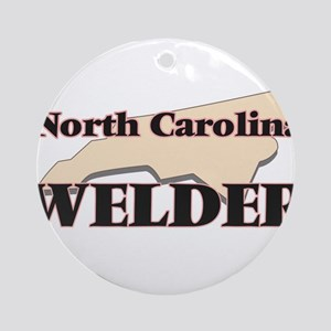 North Carolina Welder Round Ornament