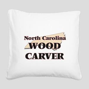 North Carolina Wood Carver Square Canvas Pillow