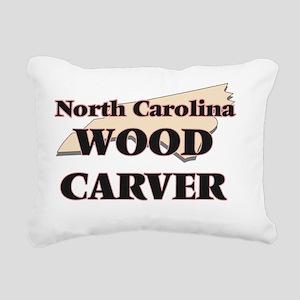 North Carolina Wood Carv Rectangular Canvas Pillow