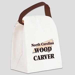 North Carolina Wood Carver Canvas Lunch Bag