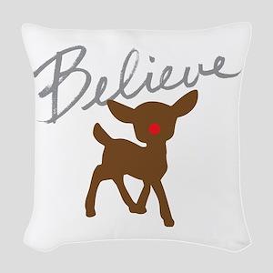 Believe Woven Throw Pillow