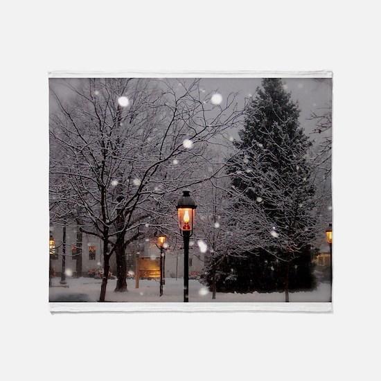 White Christmas Throw Blanket