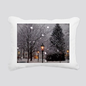 White Christmas Pillo Rectangular Canvas Pillow