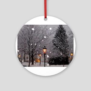 White Christmas Ornament (Round)
