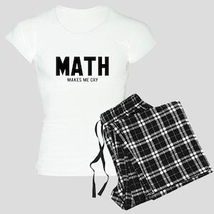 Math makes me cry Women's Light Pajamas