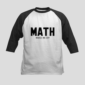 Math makes me cry Kids Baseball Jersey