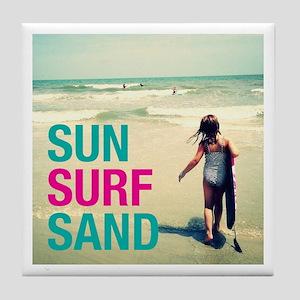 Sun, Surf, Sand Tile Coaster