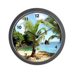 Tropical Beach Wall Clock