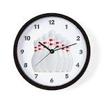 Bowling Team Wall Clock