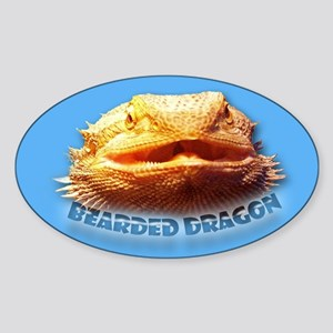 Bearded Dragon Oval Sticker