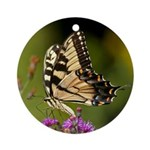 Eastern Tiger Swallowtail Butterfly Ornament (Roun