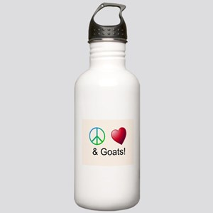 Oeace Love Goats Water Bottle