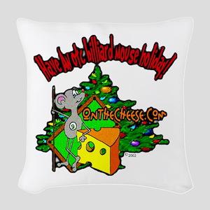 OTC Billiards Christmas Woven Throw Pillow