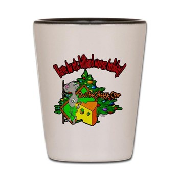Have A Billiard Holiday, OTC Billiards Mouse Christmas Shot Glass