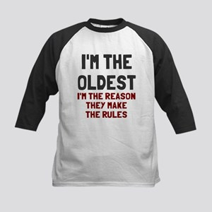 I'm the oldest make rules Kids Baseball Jersey
