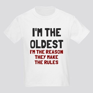 I'm the oldest make rules Kids Light T-Shirt