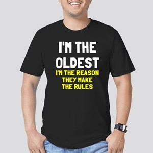 I'm the oldest make ru Men's Fitted T-Shirt (dark)