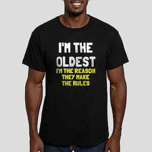 I'm the oldest make ru Men's Fitted T-Shirt (dark)