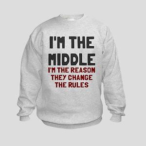 I'm the middle change rules Kids Sweatshirt