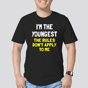 I'm the youngest rules Men's Fitted T-Shirt (dark)