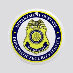 DEPT OF STATE - DIPLOMATIC SECURITY Round Ornament
