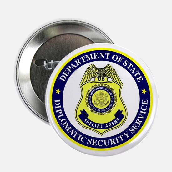 """DEPT OF STATE - DIPLOMATIC SECURITY S 2.25"""" Button"""