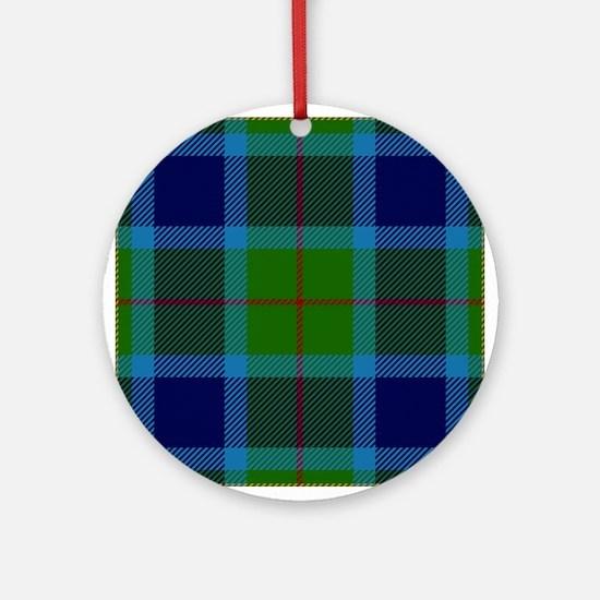 Miller Scottish Tartan Round Ornament