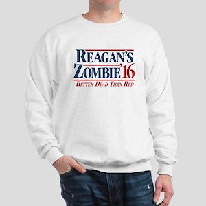 Reagan's Zombie for President Sweatshirt