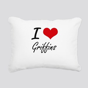 I love Griffins Rectangular Canvas Pillow